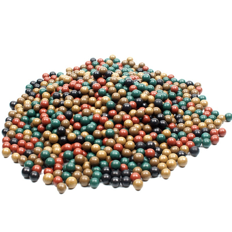 200pcs 9-10mm Safety Mud Pills And Hard Mud Ball Outdoor Hunting Slingshot Dedicated Environmental Health Marbles Slingshot