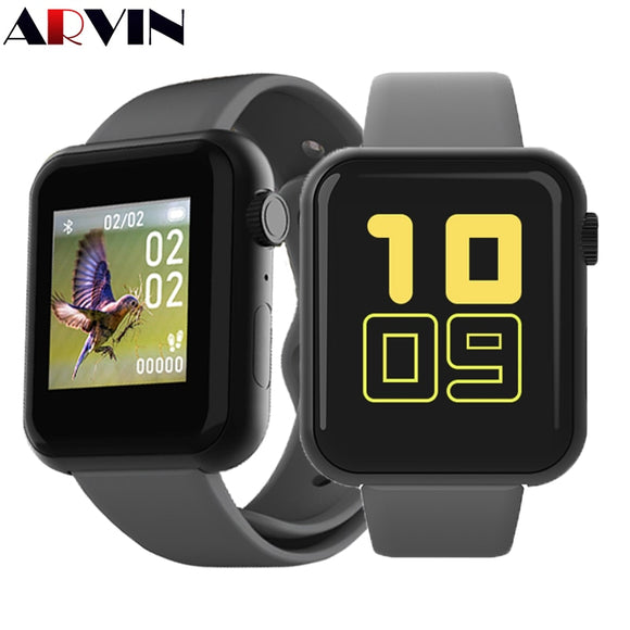 Arvin V6 Call Reminder Smart Watch Interactive Music Men Women Smartwatch Heart Rate Fitness Tracker Blood Pressure Monitor