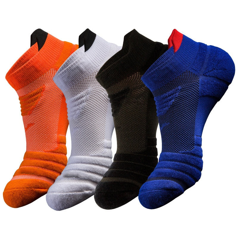 Marque Essentials 10-Pack Cotton Half Cushioned Ankle Socks Homme