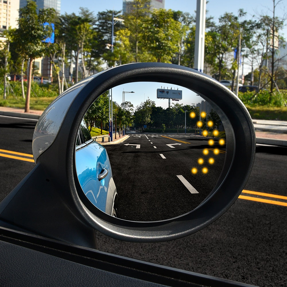 2pcs funny sticker 3D car rear view mirror back window reflective for mini coope