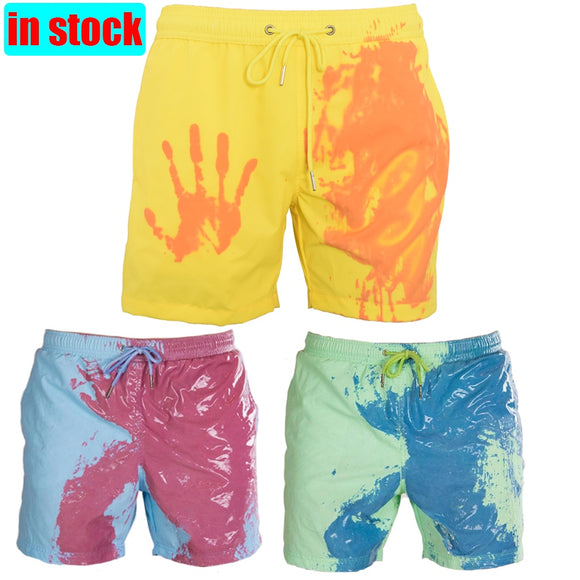 Flower Waterfall Scenery Mens Swim Trunks Quick Dry Bathing Suits Summer Casual Surfing Board Shorts