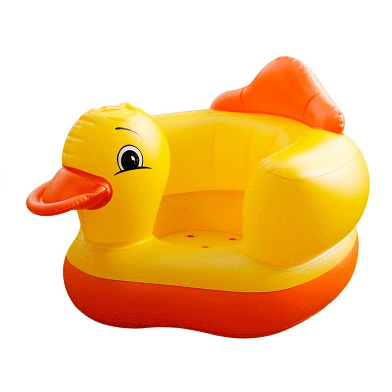 Small yellow duck baby inflatable sofa baby learn to sit chair baby dining chair multi-functional portable stool toy