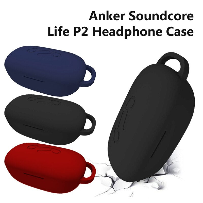 3 Colors New Improved Silicone Cover Protective Case Full Shell Anti-shock For Anker Soundcore Life P2 Earphone Accessories