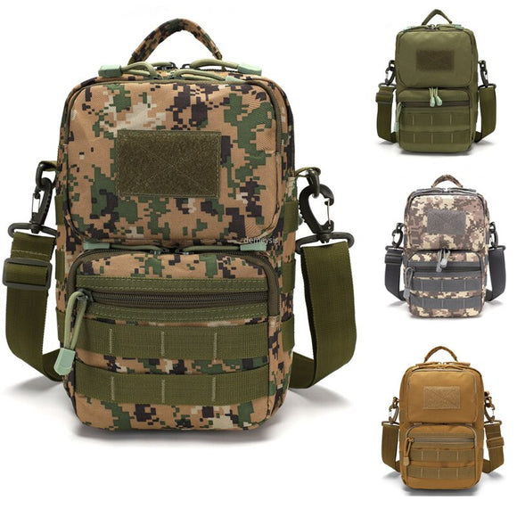 Multi-Function Mens Travel Messenger Bag Military Tactical Molle Bag Small Combat  Shoulder Bags for Hunting Camping