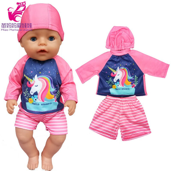 fits for 40cm born baby doll clothes cute hat rompers for 17 inch bebe doll clothes pants toys clothes