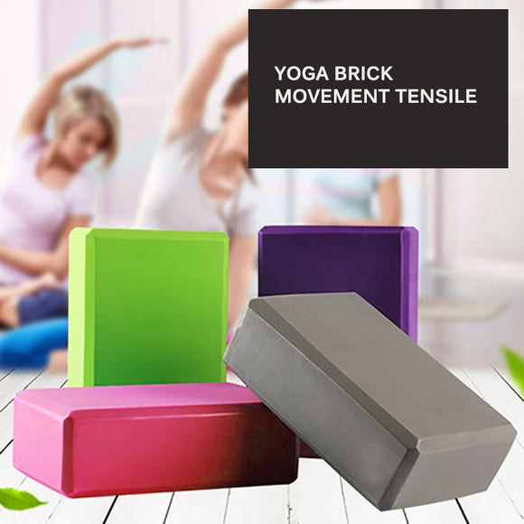 Gym EVA Blocks Foam Brick Training Exercise Fitness Set Tool Yoga Bolster Pillow Cushion Stretching Body Shaping Health Training