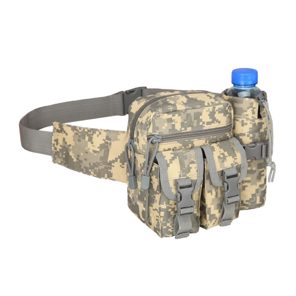 Sport Military Camouflage Waist Bag Men Belt Bag Backpack Waterproof Running Bag 800d Oxford Cloth Camping Battle Bags Chest Bag