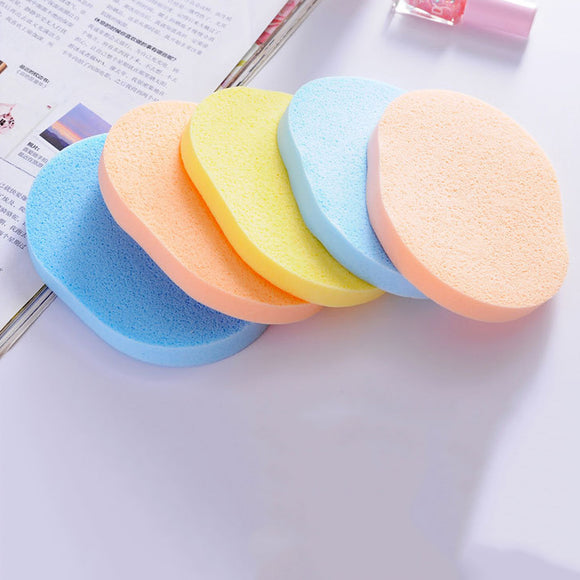 5PCS Cotton Facial Beauty Natural Reusable Sponge Puff Cleaning Sponge Face Washing Puff Cosmetic Puff Skin Care Tool