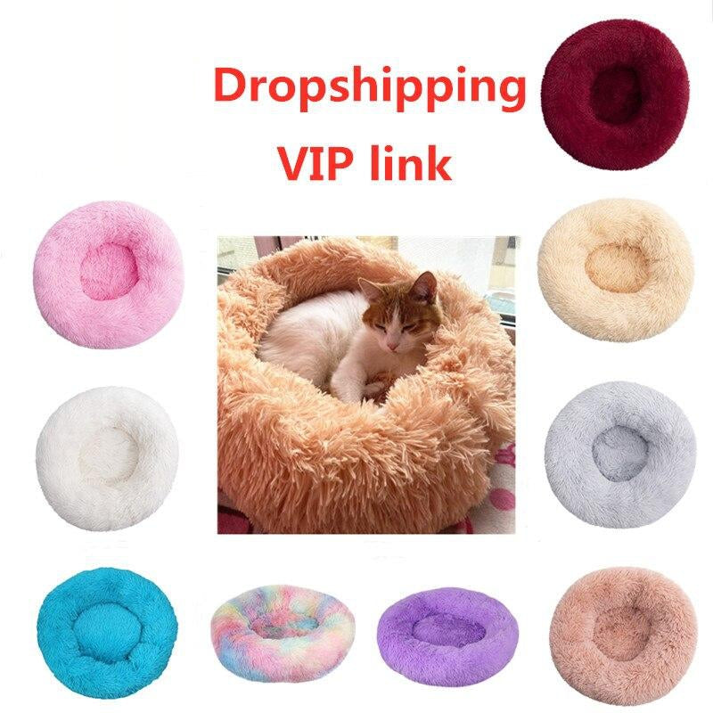 VIP LINK - Dog Bed Cat Bed Winter Warm Long Plush Sleeping Beds Soild Color Soft Pet Dogs Cat Mat Cushion Dropshipping