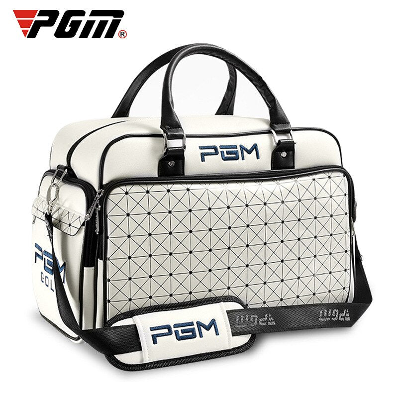 Pgm Golf Clothing Bag Waterproof Pu Leather Large Capacity Independent Golf Shoes Bag Outdoor Double Layer Sport Handbags