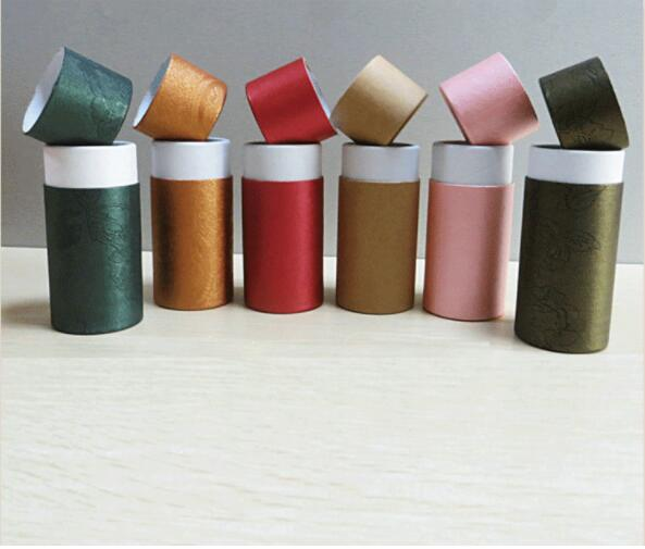 50pcs Essential Oil Bottle Packaging Box Gift Paper Tube Packing Box With Lid Round Paper Cardboard Boxes