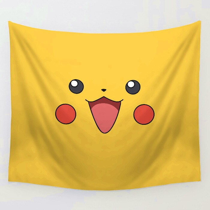 Anime Pokemo Pikachu GO Evee Tapestry Mat Sofa Cover Wall Hanging Decor Tapestries Bedspread Beach Towel
