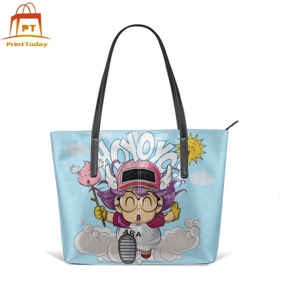 Dragon Ball Handbag Arale Top-handle Bags High quality Large Leather Tote Bag Teen School Trend Woman Pattern Women Handbags