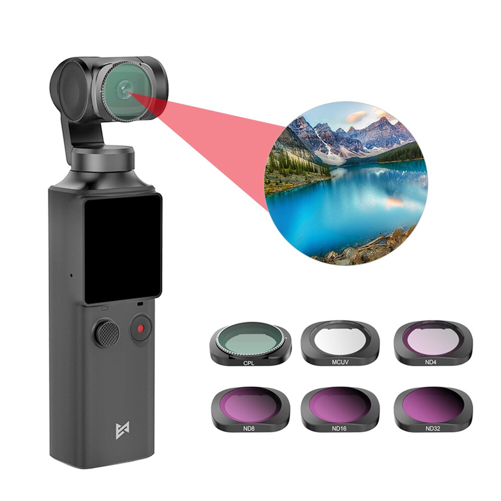 Leoie for OSMO Action Filter Set CPL UV Star ND4//8//16//32 ND8//16//32//64-PL Filters Kit Osmo Action Camera Lens Accessories 4 in 1