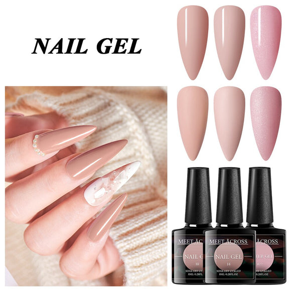 Spring Summer Yellow Green Pink Nude Pure Color Gel Nail Polish Soak Off UV LED Gel Nail Polishes Lacquer Nail Art Manicure