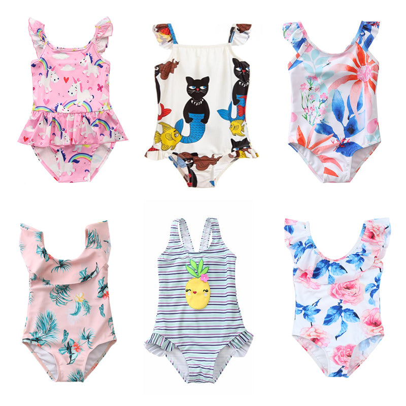 Swyss Toddler Baby Girls Solid Strappy Romper Cute Ruffled Ruched Bodysuit Outfit Casual Clothes 0-18 Months
