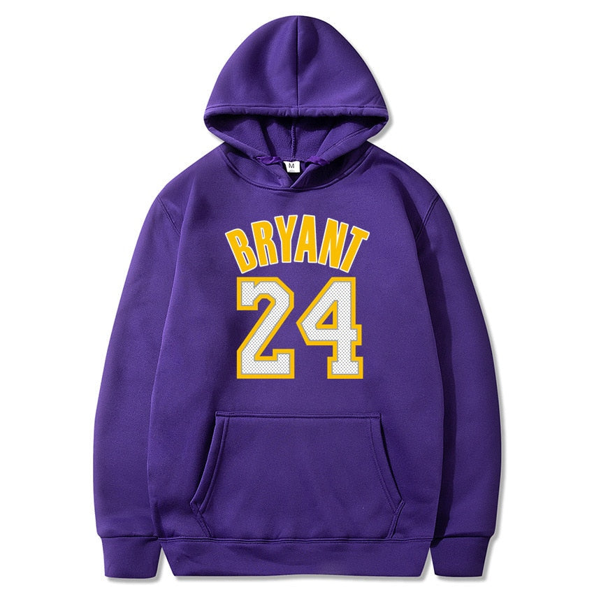 new hoodie sweatshirt men Basketball sport hoody 24 kobe bryant printed Pullovers Winter hoodies off white
