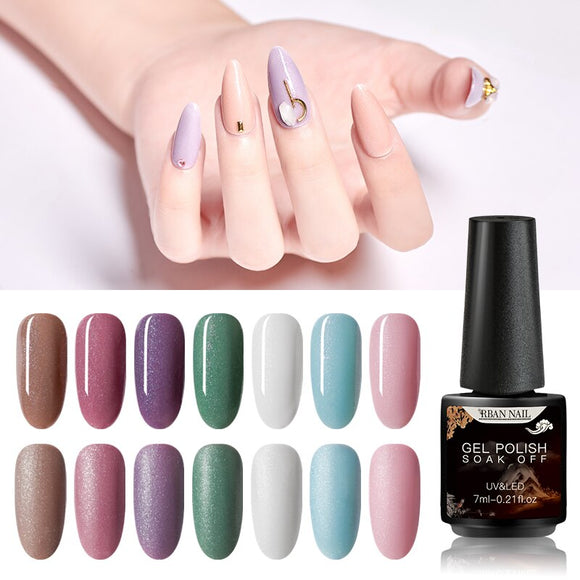 RBAN NAIL 7ml Gel Nail Polish Hybrid Varnish All for manicure Art Glitter Top Base Coat UV Vernis Semi Permanent Acryl Gel Lak