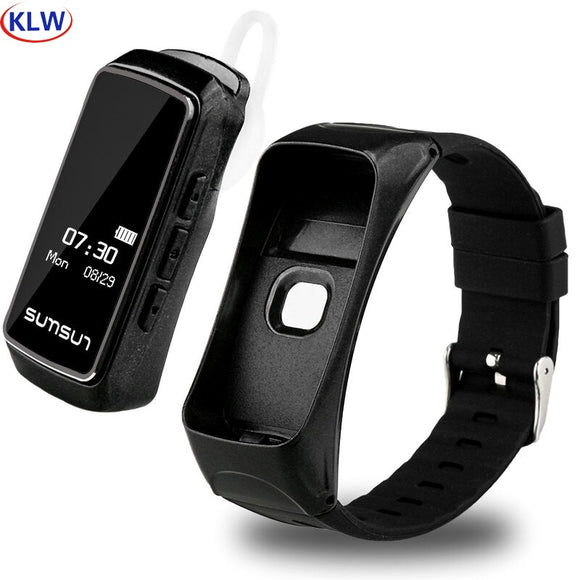 KLW B7 bluetooth smart bracelets Sleep monitoring Sports step counting, alarm clock reminder  heart rate   smart talk band