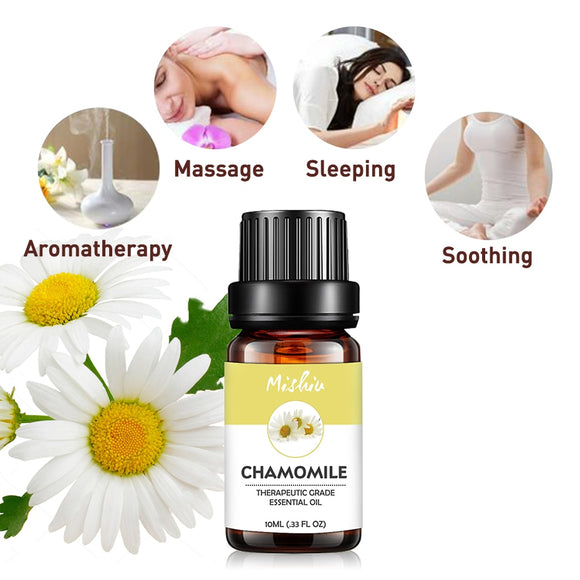 Mishiu 10ML Chamomile Essential Oil Relieve anger,Anxiety,Depression,Fear For Humidifier Aromatherapy Natural Home Air Care