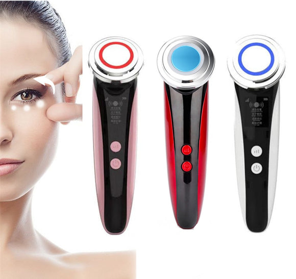 5 In 1 LED Photon Light Therapy Facial Skin Care Tool Face Lifting Tighten Ems Massager RF Radio Frequency EMS Beauty Instrument