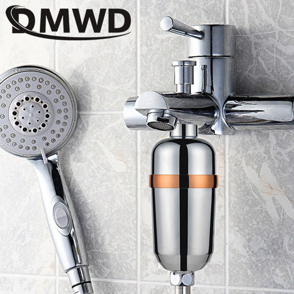 DMWD Bathroom Shower Filter Activated Carbon Health Bathing Tap Head Water Purifier Faucet Softener Chlorine Removal Cartridge