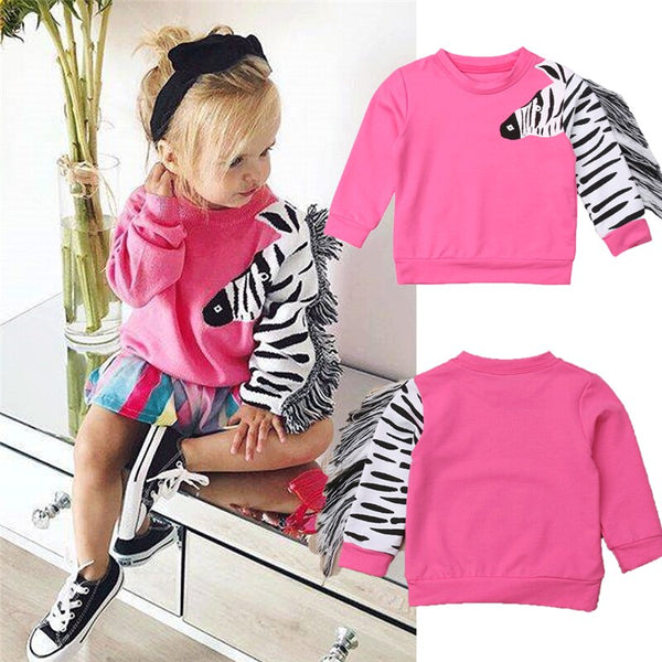 ITFABS Toddler Kids Baby Girl Floral Hoodies Sweatshirts Jackets Coat Casual Tops Autumn Winter Fashion Sports Active Clothes