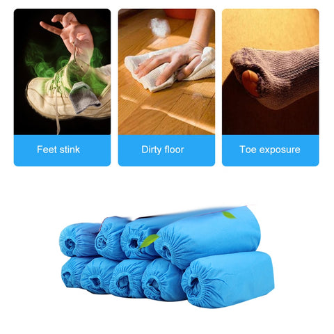 100PCS Anti-Slip Disposable Shoe Cover Overshoes Cleaning Protection