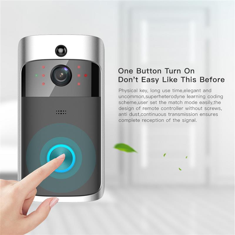 Smart Door Bell 2.4G RF Wireless Ring Doorbell WiFi Visual Camera Phone Anti-theft Alarm Home Security timbre