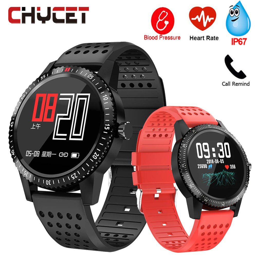 Smart Watch Men Women Waterproof IP67 GPS Smartwatch Blood Pressure Watch Connected Smart Clock Fitess Watches For Android IOS