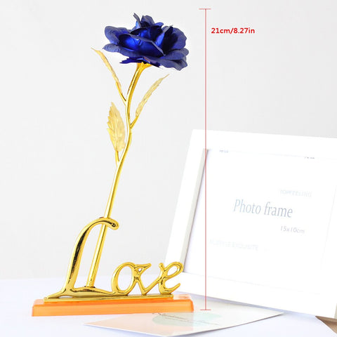 Starry Gold Plated Rose Dipped Flower Valentine/'s Day Love Gift For Her Decor US