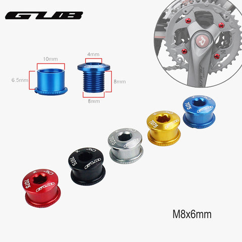 7075 alloy cnc chain ring wheel bolt road bicycle disc screws for crankset RS