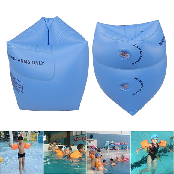 New 2Pcs PVC Adult Child Safety Inflatable Arm Swimming Ring Training Swimming Float Circle Kids Swim Pool Water Air Sleeve