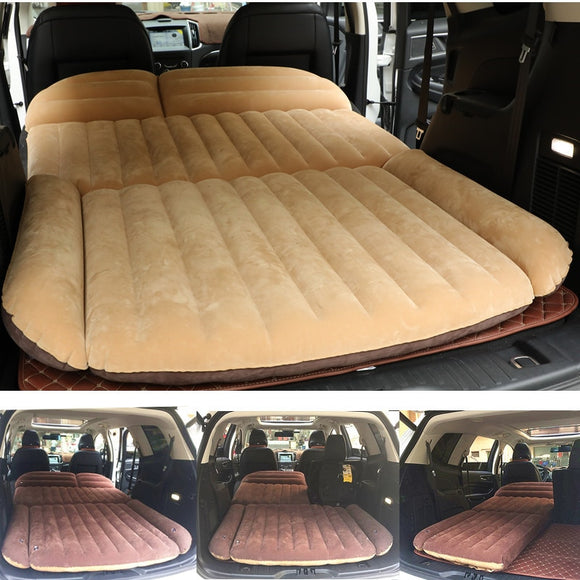 190*119*12.5CM Camping Car Bed SUV Inflatable Car Mattress For Auto Mattress Flocking Portable Inflatable Cushion Car Travel Bed