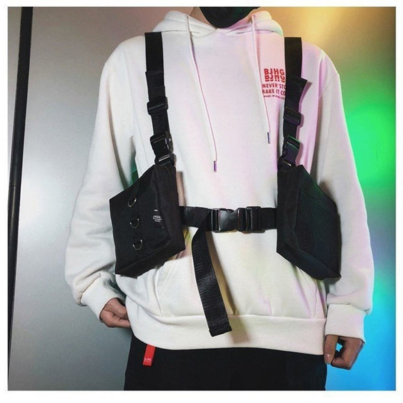 Fashion Chest Rig For Men Waist Bag ins Streetwear Functional walkia Tactical Hip Hop Shoulder bag Crossbody Bags Men Canvas Bag