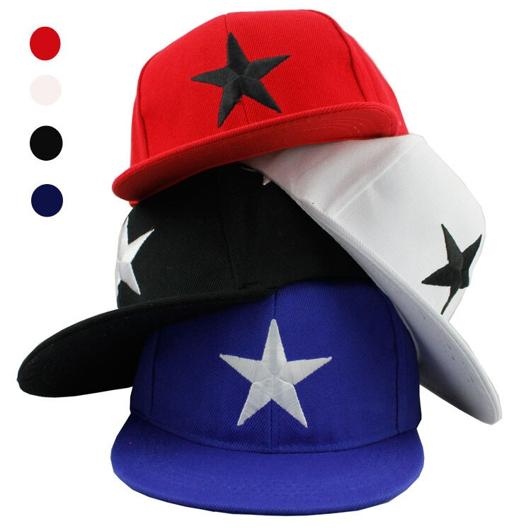 New Child hat Cotton Snapback Baseball cap Men And Women Baby Embroidery Five-pointed Star Hip Hop Children Baseball Hats