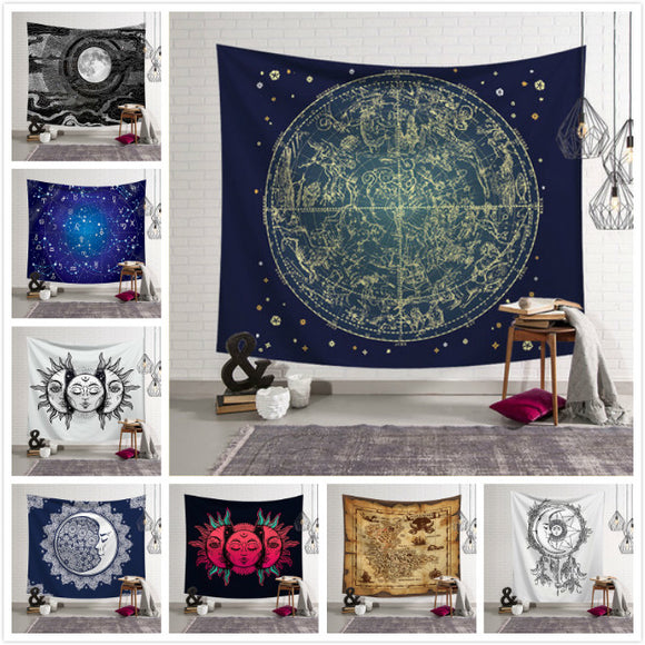 The Galaxy Hanging Wall Tapestry Hippie Retro Home Decor Yoga Beach Towel Table Cover 150x130cm/150x100cm/150*200cm/150*230cm