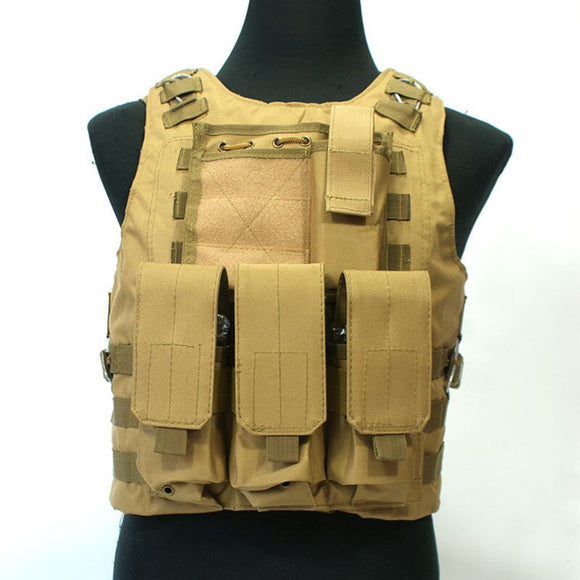 Outdoor Hunting Ciras Tactical Military Airsoft Vest Plate Carrier Unloading Chest Rig Bag Molle Camping Travel Sport Trecking 4