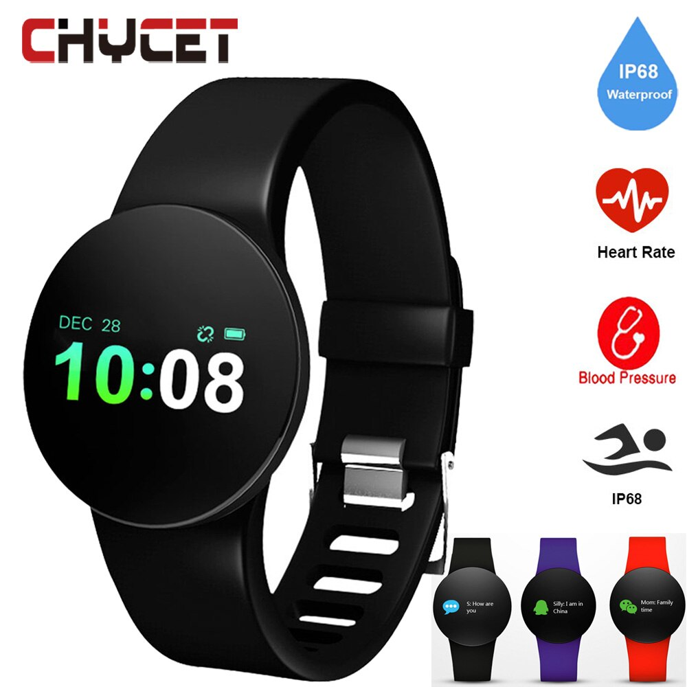 Smart Bracelet Blood Pressure Watch Watchproof IP68 Fitness Tracker Heart Rate Monitor Pedometer Watch Sport Health Men Women