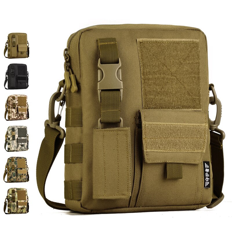 Camo Waterproof Vertical Messenger Bag Army Fans Tactical Shoulder Bags  Outdoor Travel Commuter Package Camping Hiking Backpack