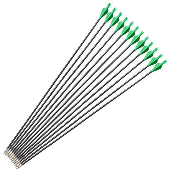 6/12 pcs Archery  Arrows Fiberglass 31 Inch Spine 700  Shooting Hunting Arrows for Compound Recurve Bow Acessories