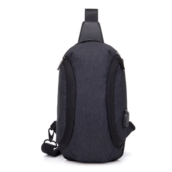 Fashion Crossbody Bags For Men 2020 chest bag Korean sports simple youth Messenger bag shoulder male bag USB charging small bag