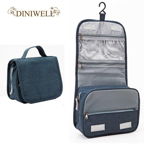 DINIWELL New Travel Cosmetic Bag Portable Storage Cosmetic Organizer Men's Ladies Makeup Essentials