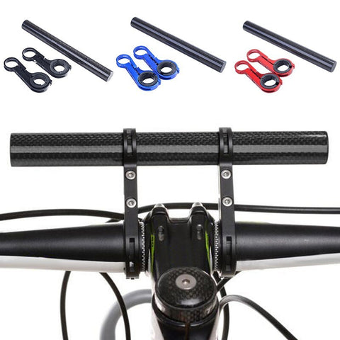 Black Bike Handlebar Extension Extender Bracket Safety Bicycle Accessories FA