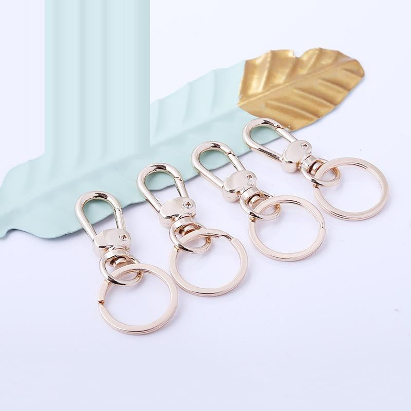 5pcs Metal Swivel Lobster Clasp Clips Key Hook Keychain Split Key Ring Findings Clasps Metal Tag Quick Clips Hot Sale