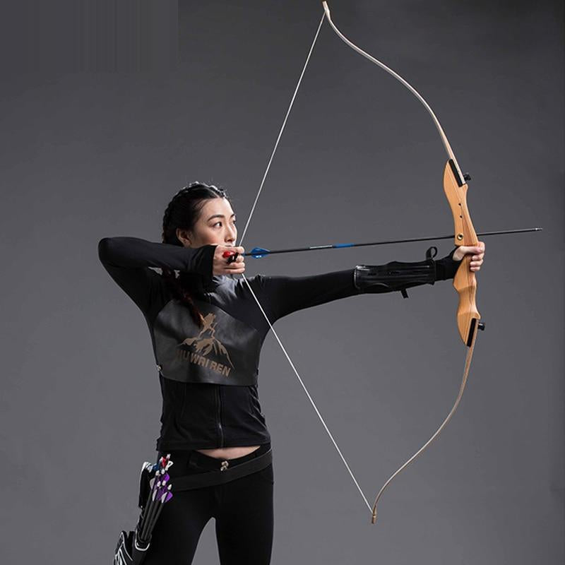 20-40lbs Hunting Shooting Bow Wooden Practice Recurve Bow Child Women Men Outdoor Hunting Take Down Bow Sports Game