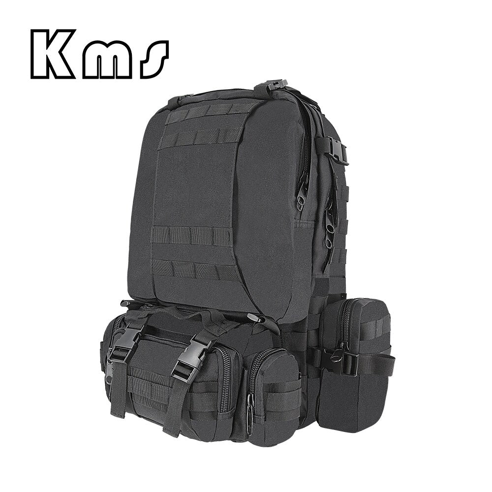 BLACK ARMOR 50L Tactical Military Backpack Rucksack Water Resistant Outdoor Molle Backpack Camping Hiking Travel