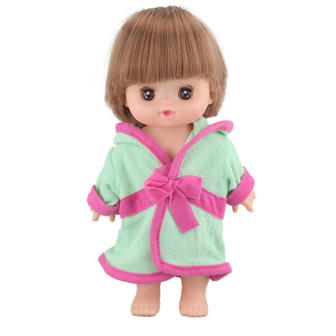 Adorable Doll Pink Striped Printed Jumpsuit for 25cm Mellchan Baby Doll
