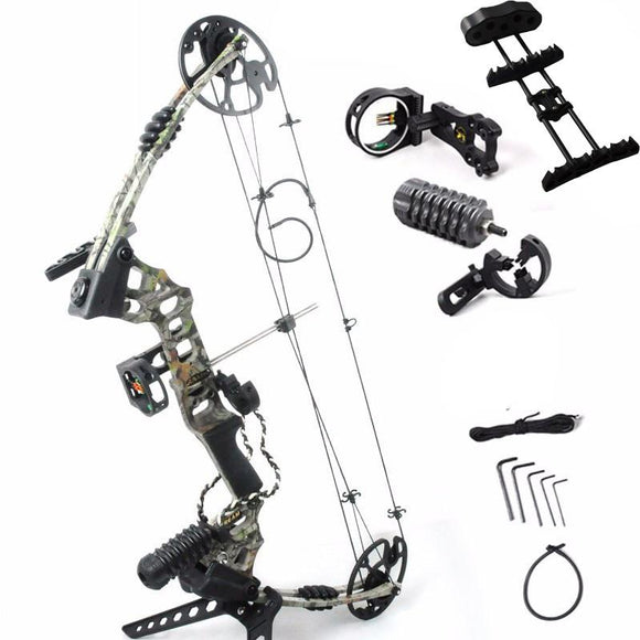 Adjustable 30-70 lbs  Compound Bow Powerful Archery Outdoor Shooting Hunting Bow With Complete Accessories