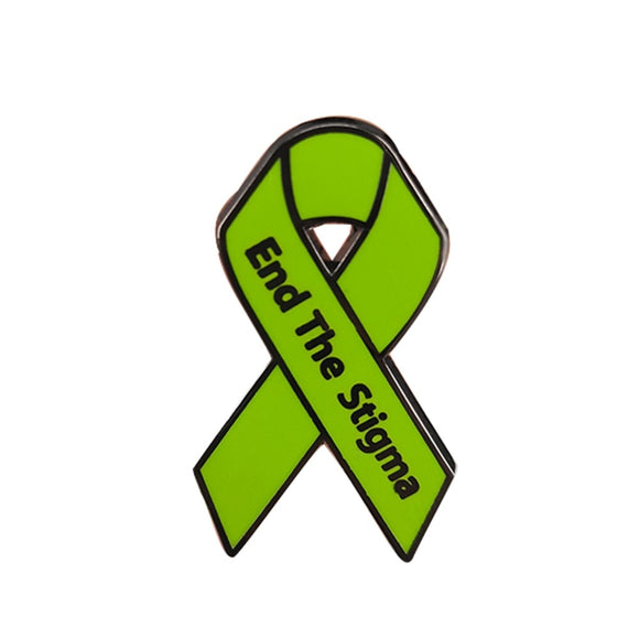 Stop End the Stigma of Mental Illness Pin NAMI Mental Health Awareness Ribbon Badge Brooch